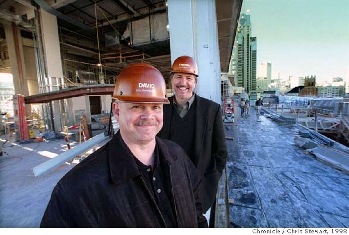 METREONW05/C/29DEC98/MN/CS - David Spencer (F) and Trevor Bryant are the driving force behind the Sony Corporation development of Metreon, a new and unique entertainment complex to open in Spring of 1999 at Yerba Buena. PHOTO BY CHRIS STEWART/THE CHRONICLE CAT