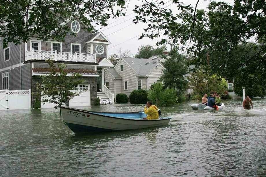 Gregory Blvd in East Norwalk, Conn. is under water after the high tide caused by Hurricane Irene on Sunday, August, 28, 2011. Photo: File Photo