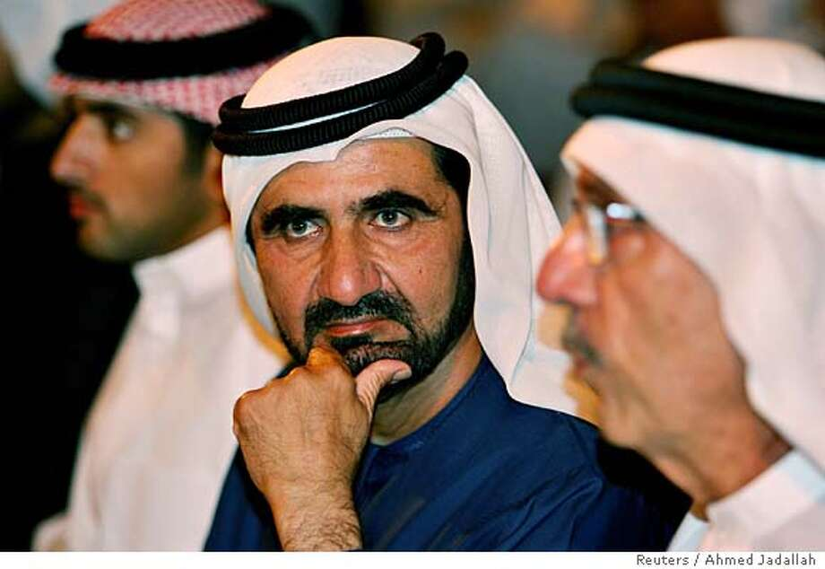 Emirates Prime Minister and ruler of Dubai Sheikh Mohammed bin Rashed al-Maktum attends the launching ceremony of a landmark aerospace enterprise in Dubai February 19, 2006. Dubai launched its maiden voyage into the global aerospace industry on Sunday by investing $15 billion in an aviation services corporation that is eyeing the booming markets of Asia and the Middle East. REUTERS/Ahmed Jadallah 0 Photo: AHMED JADALLAH