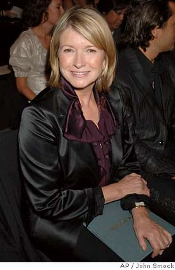 Martha Stewart sits front row at the Zac Posen 2008 spring/summer show during Fashion Week in New York, Tuesday, Sept. 11, 2007. (AP Photo/John Smock) Photo: JOHN SMOCK