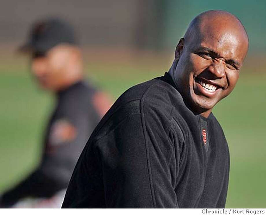 Barry Bonds worked out with the Giants this morning.  GIANTS Spring training at Scottsdale Stadium.  Kurt Rogers SCOTTSDALE SFC  The Chronicle GIANTS_00145_kr.JPG MANDATORY CREDIT FOR PHOTOG AND SF CHRONICLE/ -MAGS OUT Photo: Kurt Rogers