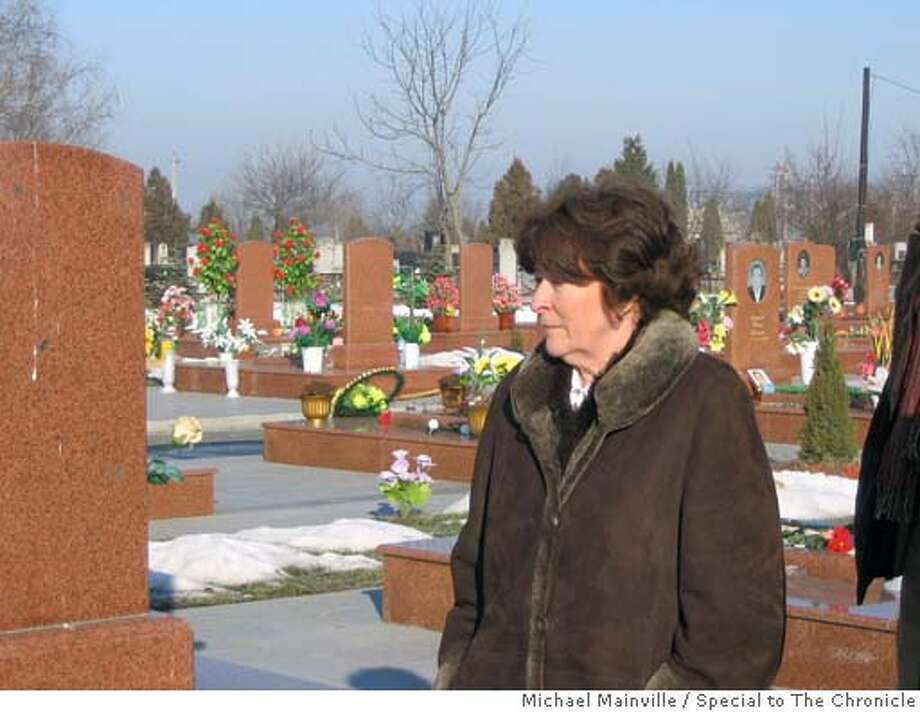 U.N. High Commissioner for Human Rights Louise Arbour visits the cemetery where the more than 330 victims of the 2003 Beslan attack are buried. Photo by Michael Mainville/Special to The Chronicle Photo: Michael Mainville/Special To The