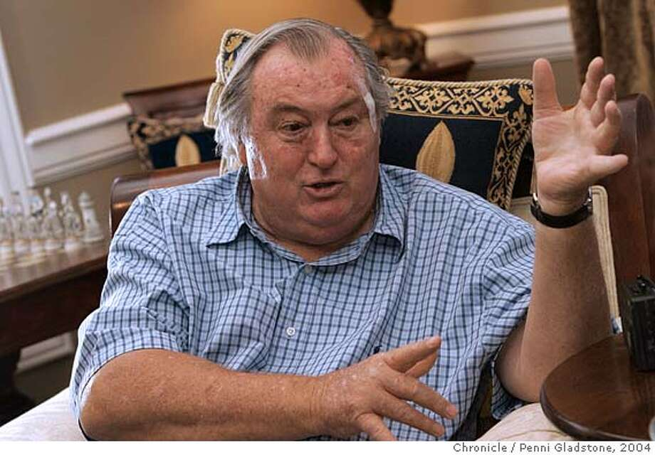 LEAKEY_088_pg.jpg Paleontologist and conservationist Richard Leakey of the East African fossil-hunting family discusses global environmental. Leakey, former head of the Kenya Wildlife Department and outspoken advocate of the African elephant, announcing his initiative to deal with depletion of animal and plant species, global warming and inequities of wealth. City:� Saratoga 9/1/04 in Saratoga.  Penni Gladstone / The Chronicle MANDATORY CREDIT FOR PHOTOG AND SF CHRONICLE/ -MAGS OUT Ran on: 09-01-2004  Conservationist Richard Leakey: &quo;What are you going to do about the wretched sun?'' Ran on: 09-01-2004  Conservationist Richard Leakey: &quo;What are you going to do about the wretched sun?'' Nation#MainNews#Chronicle#9/1/2004#ALL#5star#A10#0422316041 Photo: Penni Gladstone