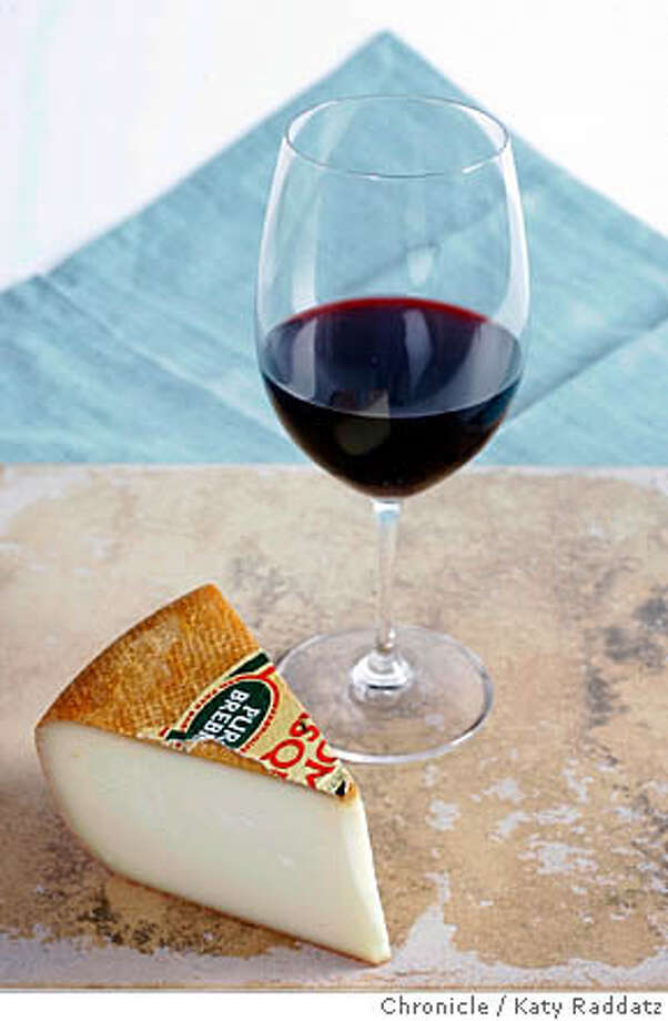 CHEESE23_009_RAD.JPG SHOWN: Etorki cheese paired with red wine. For the Wine Section's cheese column. Photo taken on 2/16/06, in San Francisco, CA.  By Katy Raddatz / The San Francisco Chronicle MANDATORY CREDIT FOR PHOTOG AND SF CHRONICLE/ -MAGS OUT Photo: Katy Raddatz