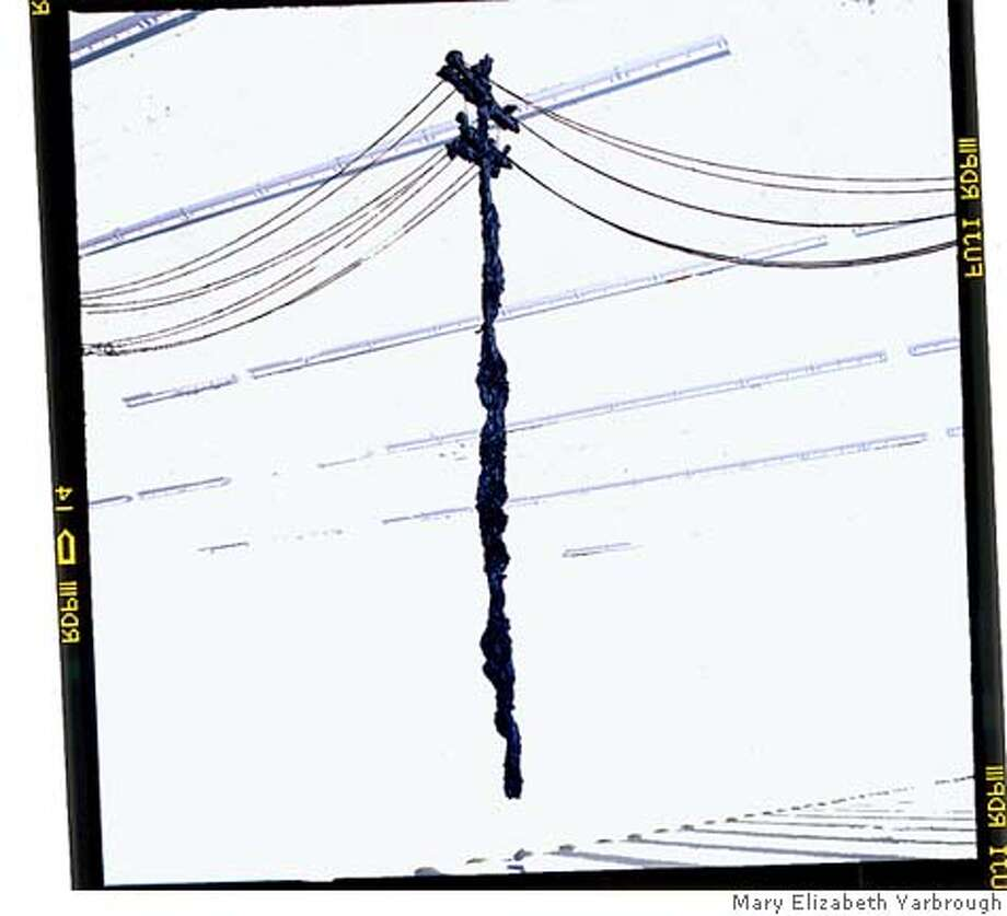 "This image depicts an artwork titled, ""Power Pole, Reconsidered 2002/2006."" Please credit the image to the artist, Mary Elizabeth Yarbrough. Photo: Mary Elizabeth Yarbrough"