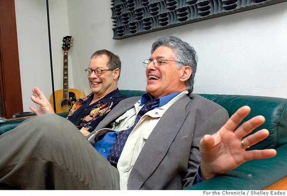 Sal Valentino, right, lead vocalist for the British Invasion era SF rock group Beau Brummels, has finally released his first solo album after 45 years in the business along with the help of his longtime collaborator John Blakeley, left. Shelley Eades/ The Chronicle /mandatory credit photog Mags out. Photo: Shelley Eades