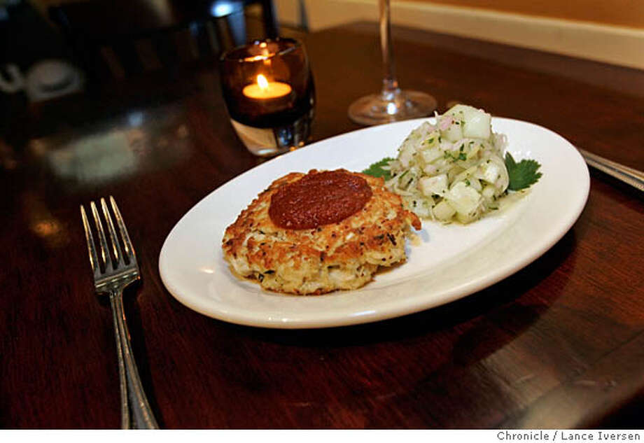 SIMMER22_LI_0072.jpg_  Simmer is a popular restaurant at 60 Corte Madera Ave in Corte Madera offers crab cake with sweet tomato chutney and cucumber fennel salad. By Lance Iversen/San Francisco Chronicle MANDATORY CREDIT PHOTOG AND SAN FRANCISCO CHRONICLE. Photo: Lance Iversen