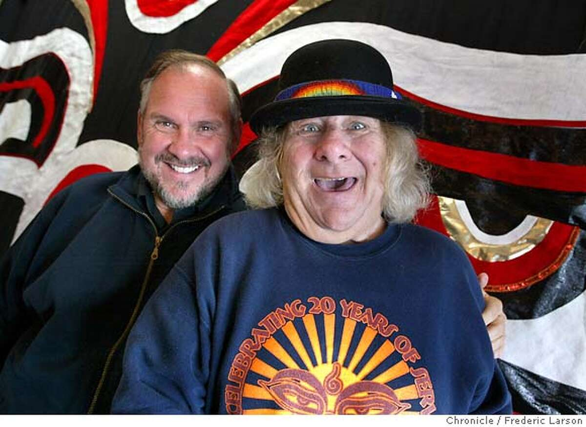 SEVA_045_fl.jpg; Larry Brilliant co-founder (left) and Wavy Gravy of the SEVA Foundation celebrate 25 years. Headquartered in Berkeley, the organization has established programs that have resulted in more than 2 million blind people in the Nepal-India-Tibet area receiving cataract operations that allowed them see again. The foundation also has started various other programs to combat poverty and disease The Chronicle; Patients give the thumbs up after having been operated on by Sevas ophthalmic surgeons in Tibet, where the foundation is helping to cure blindness. ALSO RAN 1/2/2004(PN) Ran on: 04-17-2005 Sam Endicott of the Bravery stands up to Killers. MANDATORY CREDIT FOR PHOTOG AND SF CHRONICLE/ -MAGS OUT CAT