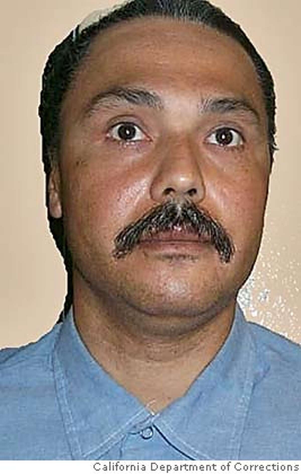 """** EDS: PHOTO HAS BEEN DIGITALLY ALTERED BY SOURCE TO REMOVE BACKGROUND ** In this photo released by the California Department of Corrections, Michael Morales, 46, of Stockton, Calif., is seen in an undated photo. Morales was convicted in 1983 of murdering 17-year-old Terri Winchell, who was found beaten and stabbed in a secluded vineyard. Lawyers for Morales who is scheduled to be lethally injected Tuesday, Feb. 21, 2006, are objecting to a court-ordered plan to alter the procedure, saying Thursday the revision reduces the condemned man """"to little more than a test subject."""" (AP Photo/California Department of Corrections)Ran on: 02-18-2006 Michael Morales may have changed during his years in prison, but that doesnt outweigh the brutality of his crimes, the governor said.Ran on: 02-18-2006 Ran on: 02-18-2006 Michael Morales may have changed during his years in prison, but that doesnt outweigh the brutality of his crimes, the governor said.Ran on: 02-18-2006 PHOTO RELEASED BY THE CALIFORNIA DEPARTMENT OF CORRECTIONS. UNDATED PHOTO. EDS: PHOTO HAS BEEN DIGITALLY ALTERED BY SOURCE TO REMOVE BACKGROUND."""