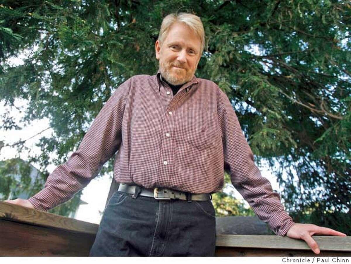 Author Bo Burlingham at his home in Berkeley, Calif. on 2/3/06. Burlingham's book,
