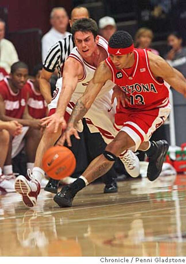 STANFORDMEN Chris Hernandez chases down the ball from Chris Rodgers.  The Stanford men host Arizona at Maples Pavilion. Photo by Penni Gladstone/The San Francisco Chronicle  Photo taken on 2/20/06, in Palo Alto, CA. Photo: Penni Gladstone