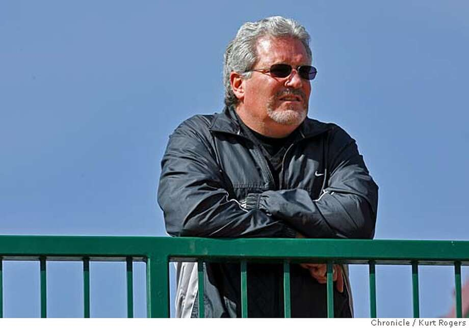 Giants General Manager Brian Sabian was on hand to watch the workout, from an up stars balcony. Giants pitchers and catchers work out Spring Training in Scottsdale Arizona.  Kurt Rogers SCOTTSDALE SFC  The Chronicle GIANTS_00157_kr.JPG MANDATORY CREDIT FOR PHOTOG AND SF CHRONICLE/ -MAGS OUT Photo: Kurt Rogers