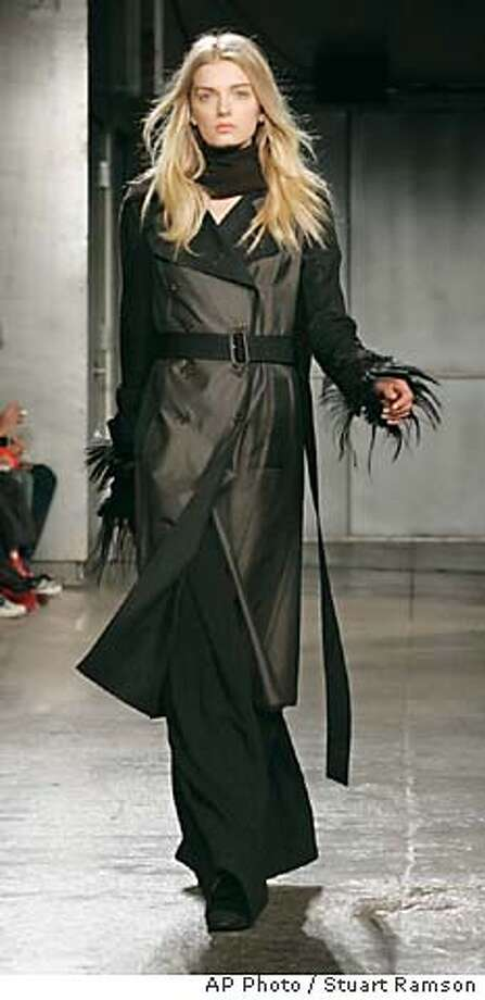 The fall 2006 collection of Karl Lagerfeld is presented on the final day of Fashion Week in New York, Friday, Feb 10, 2006.. (AP Photo/Stuart Ramson) Photo: STUART RAMSON