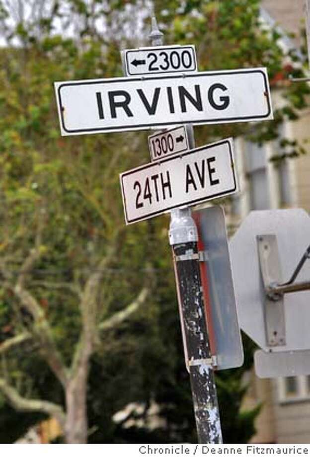 streetdate13_017_df.jpg  Irving Street near 22nd St is the feature for Streetdate. Photographed in Oakland on 9/4/07. Deanne Fitzmaurice / The Chronicle Mandatory credit for photographer and San Francisco Chronicle. No Sales/Magazines out. Photo: Deanne Fitzmaurice