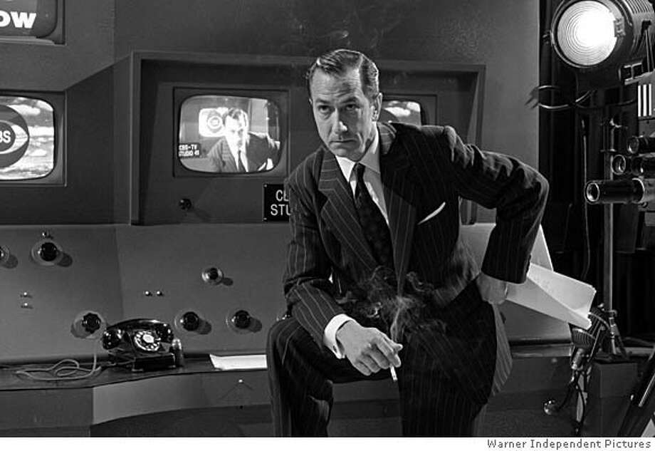 "David Strathairn as Edward R. Murrow in ""Good Night, And Good Luck."" He was nominated for best actor, the film for best picture. Photo courtesy Warner Independent Pictures"