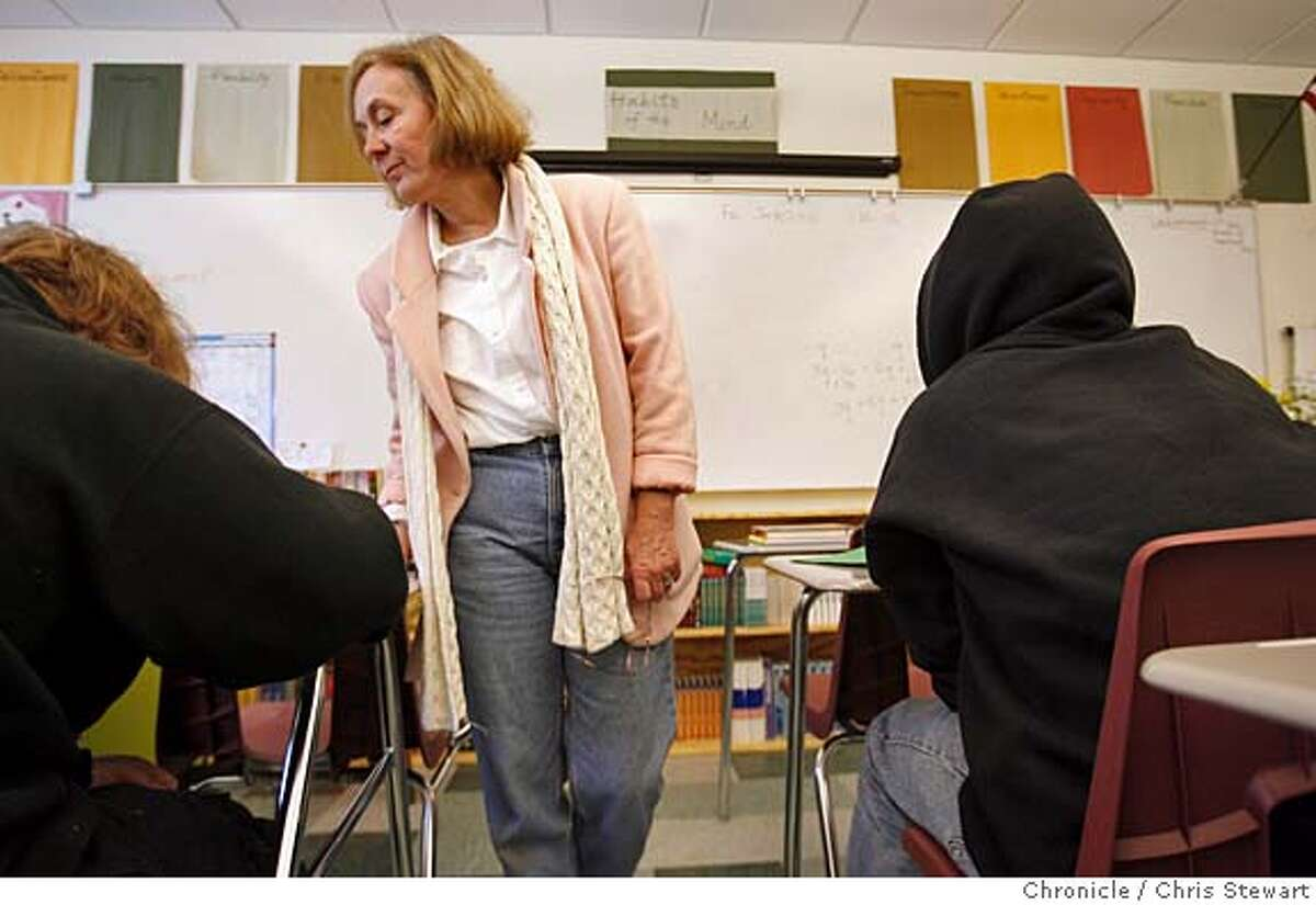 sped_success_side_019_cs.JPG Kathleen Carlton conducts a study session in her Blended Classroom at Redwood High School in Larkspur. The class blends academis and social-emotional support. Photo taken on 1/20/06 in Larkspur, CA. MANDATORY CREDIT FOR PHOTOG AND SAN FRANCISCO CHRONICLE/ -MAGS OUT