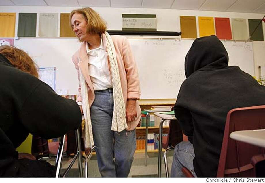 sped_success_side_019_cs.JPG  Kathleen Carlton conducts a study session in her Blended Classroom at Redwood High School in Larkspur. The class blends academis and social-emotional support.  Photo taken on 1/20/06 in Larkspur, CA. MANDATORY CREDIT FOR PHOTOG AND SAN FRANCISCO CHRONICLE/ -MAGS OUT Photo: Chris Stewart