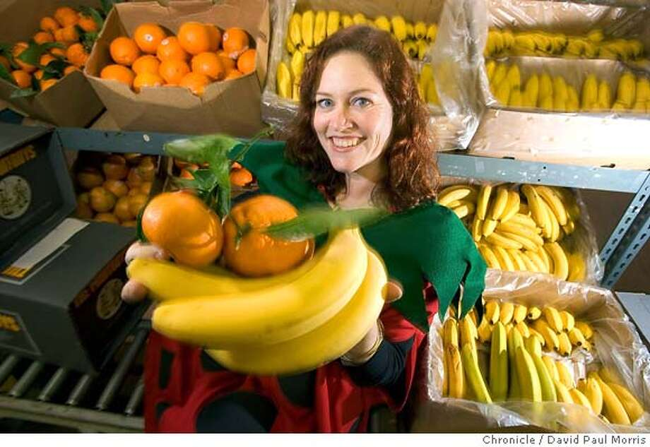SOUTH SAN FRANCISCO, CA - DECEMBER 29: Erin Giordano, head of marketing for the FruitGuys, in the warehouse on December 29, 2005 in South San Francisco, California. (Photo by David Paul Morris/The Chronicle)