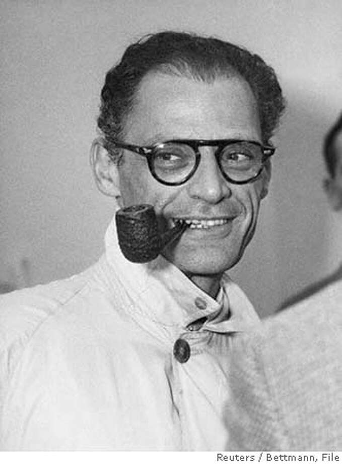 "Arthur Miller, a giant of American theatre who was once married to Marilyn Monroe, died at his home February 10, 2005 at the age of 89, his assistant said on February 11. Miller passed away at his home in Roxbury, Connecticut of congenital heart failure,"" according to Julia Bolus. Miller is pictured in this January 1, 1956 file photo. FOR ONE TIME USE ONLY NO MAGS NO ARCHIVE REUTERS/Bettmann/Corbis/Files Ran on: 02-12-2005  &quo;All My Sons&quo; Ran on: 02-12-2005  &quo;All My Sons&quo; Photo: Bettmann/CORBIS"