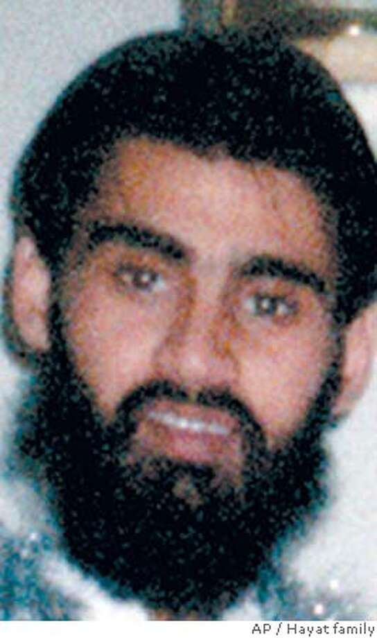 ** FILE ** This is an undated photo of Hamid Hayat provided by the Hayat family. Hayat, already being held on a terror-related charge was indicted on a more serious allegation of providing material support to terrorists Thursday, Sept. 22, 2005, after he purportedly admitted attending an al-Qaida training camp in Pakistan. (AP Photo/Hayat family via Lodi News-Sentinel, FILE) Ran on: 09-23-2005  U.S. Attorney McGregor Scott (above) said, &quo;Whatever was taking shape in Lodi isn't going to happen now.&quo; Ran on: 09-24-2005  Umer Hayat Ran on: 09-27-2005  Umer Hayat Ran on: 09-27-2005  Umer Hayat MAGS OUT BEST QUALITY Photo: Ho