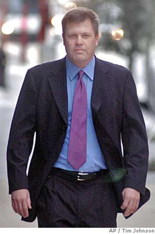 Kenneth Rice, former head of Enron's broadband division, arrives at the federal courthouse Thursday, Feb. 16, 2006, Rice gave testimony in the fraud and conspiracy trial of former Enron executives Kenneth Lay and Jeffrey Skilling. (AP Photo/Tim Johnson) Photo: TIM JOHNSON