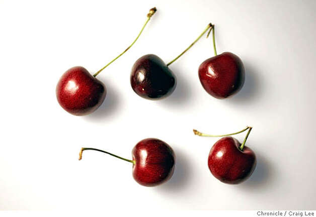 BURGUNDY04_201_cl.JPG  Photo to illustrate Burgundy wines. Photo of cherries for graphic elements in a page layout. Event on 7/19/05 in San Francisco. Craig Lee / The Chronicle Ran on: 08-18-2005  Burgundy's Chardonnay-based white wines have distinctive stony-minerally aromas; the region's reds, made from Pinot Noir, offer effusive black cherry character. MANDATORY CREDIT FOR PHOTOG AND SF CHRONICLE/ -MAGS OUT Photo: Craig Lee