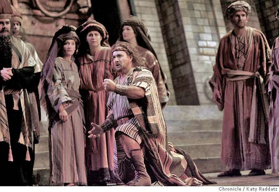"SFOPERA_SAMSON_015_RAD.jpg  SHOWN: Samson is played by Clifton Forbis--he's gathering himself to lead his people out of bondage. San Francisco Opera opens with the biblical epic ""Samson and Delilah."" (Katy Raddatz/The Chronicle)  **Samson, Clifton Forbis  Ran on: 09-12-2007  Samson (Clifton Forbis) in &quo;Samson and Delilah.&quo; Photo: Katy Raddatz"