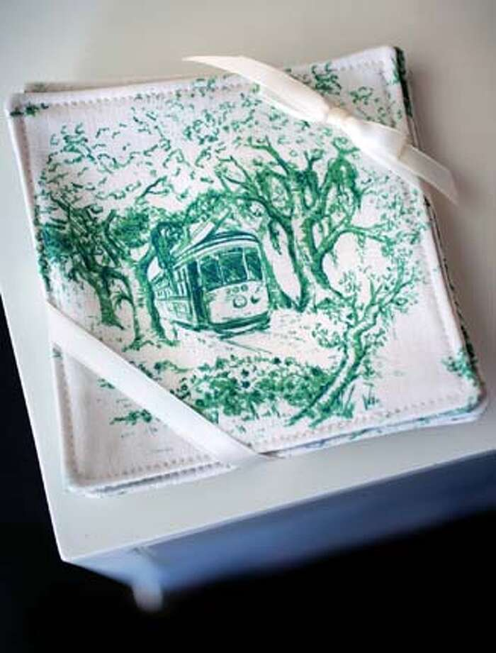 toile fabric coasters Photo: Handout