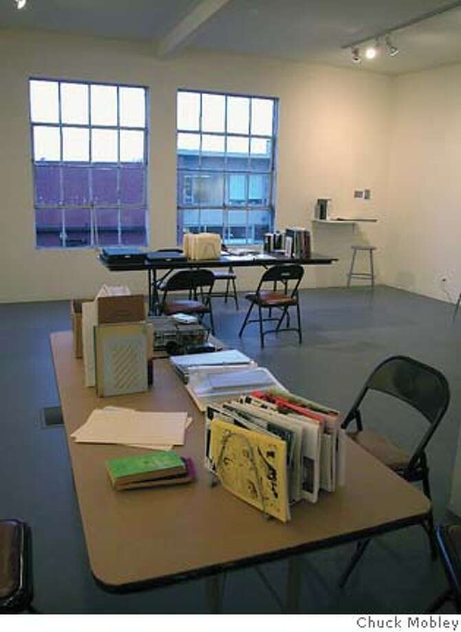 """The temporary archive project, """"The Backroom"""", at New Langton Arts. Credit: Chuck Mobley Photo: Chuck Mobley"""