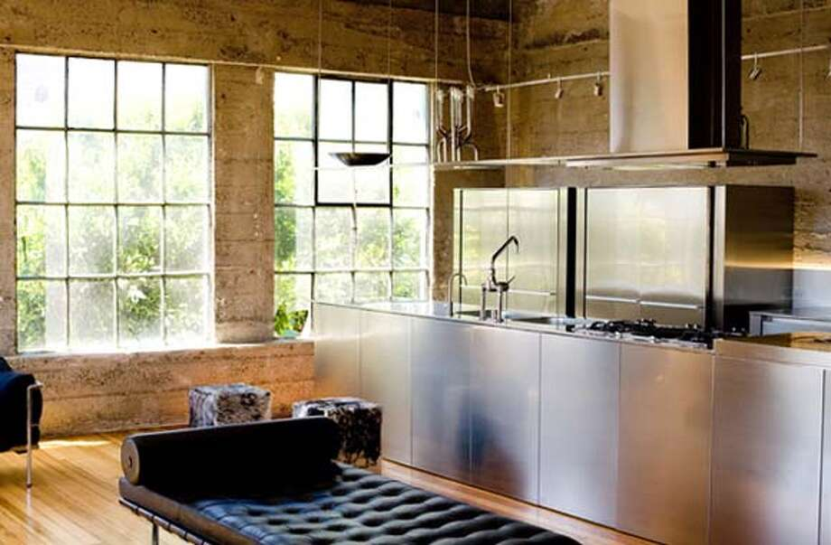 Kitchen inside Larissa and Jeff Sands' South Park home-workshop-gallery Photo: HO