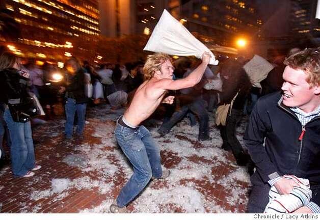 SAN FRANCISCO / Hundreds attend mass pillow fight - SFGate