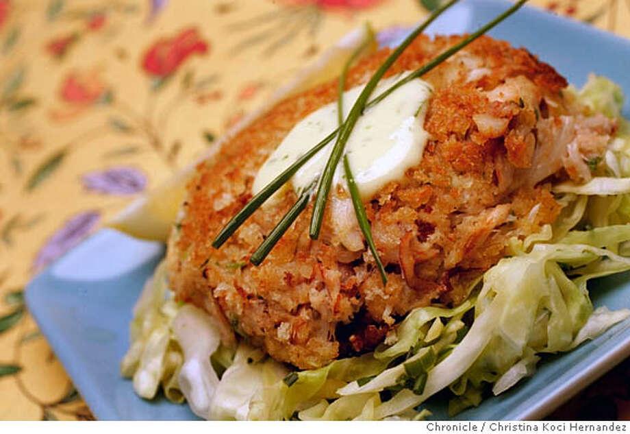 CHRISTINA KOCI HERNANDEZ/CHRONICLE  Styled recipe shot for Seafood by the Season column.  Recipe: crab cakes.  Stylist: Amanda Gold Photo: CHRISTINA KOCI HERNANDEZ