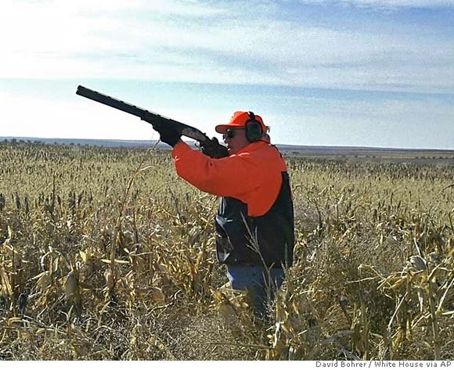 A Nov. 5, 2002 file photo provided by the White House, Tuesday, Feb. 14, 2006, shows Vice President Dick Cheney hunting quail in Gettysburg, S.D. Photo: DAVID BOHRER
