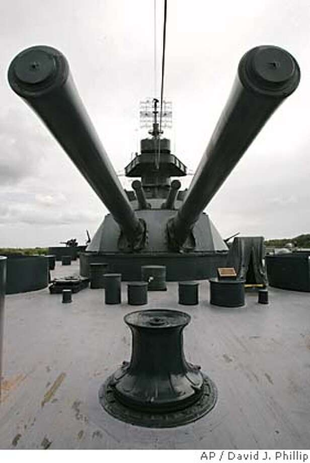 **ADVANCE FOR WEEKEND, SEPT. 25-26**The nearly century-old historic Battleship Texas is shown Monday, Sept. 13, 2004 in La Porte, Texas, near Houston. Sixteen years after the state spent $14 million to help preserve it, the only remaining battleship to survive World Wars I and II, now needs an overhaul to keep it from further deteriorating into a rust bucket. (AP Photo/David J. Phillip) 1 OF 6; ADV. FOR SEPT. 25-26, 2004 Photo: DAVID J. PHILLIP