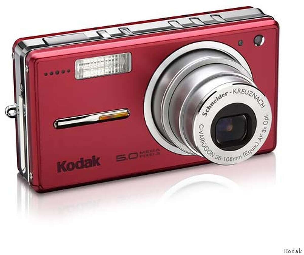 Photo: Kodak EasyShare V530 digital camera (in red) Source: Kodak