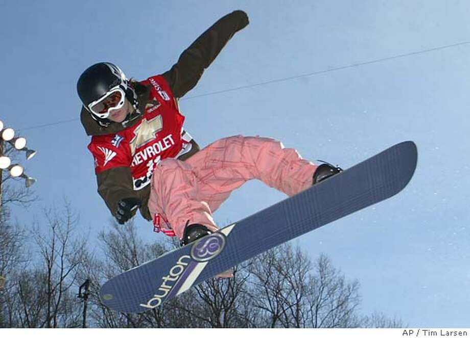 Elena Hight, South Lake Tahoe: The 16-year-old competes in halfpipe qualifying at 1 a.m. The final is at 5 a.m., and the TV is prime-time. Associated Press photo by Tim Larsen