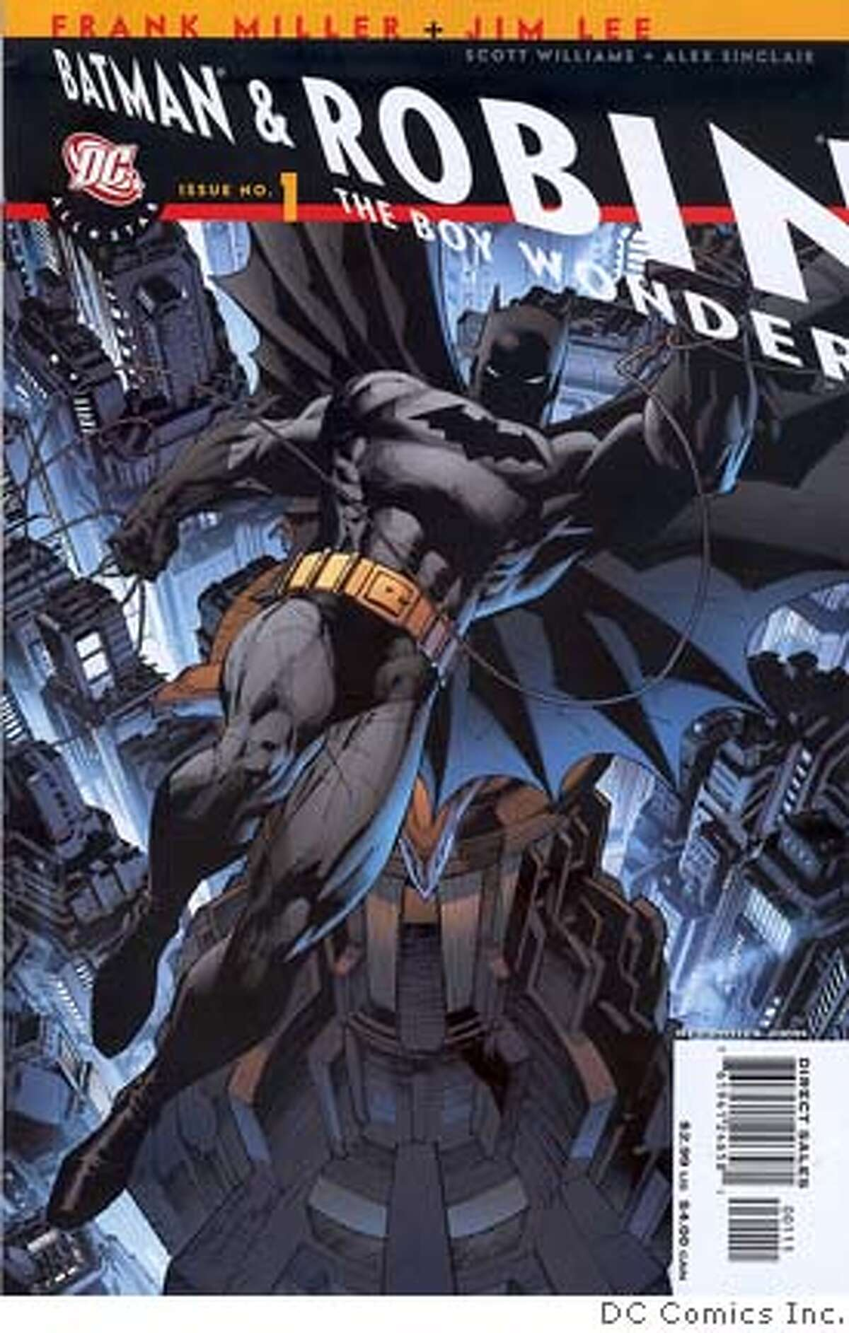 """SH06A213COMICS Jan. 24, 2006 _ """"All Star Batman and Robin the Boy Wonder"""" No. 1, by Frank Miller (""""Sin City"""") and Jim Lee, was the top-selling book for Diamond Comics Distributors Inc. in 2005. (SHNS photo courtesy DC Comics Inc.)"""