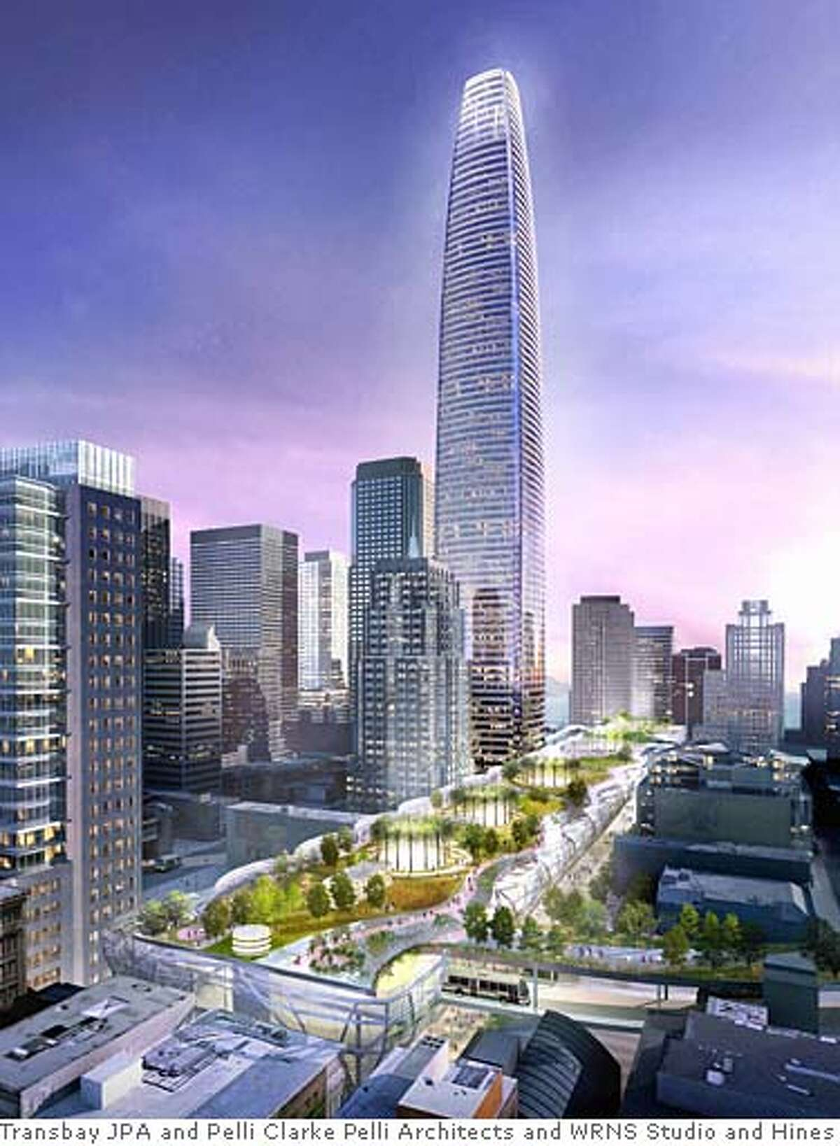 An overall view of the Pelli-Hines proposal. FOR TRANSBAYGATEPELLI