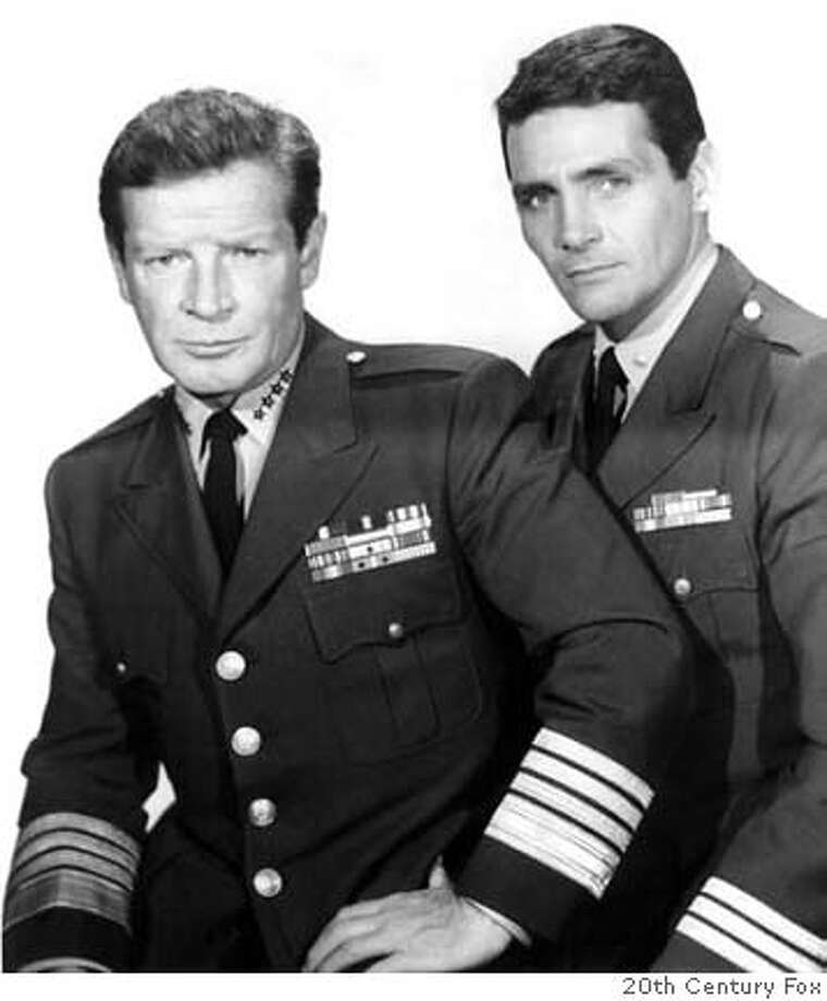 """Richard Basehart and David Hedison in """"Voyage to the Bottom of the Sea"""" Photo: 20th Century Fox"""