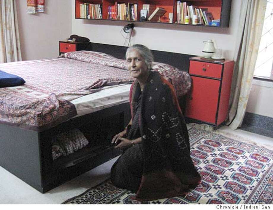 SANTINIKETAN, INDIA: Tripti Bose, who divides her time between India and Washington DC, never shops at Ikea in America, but filled her Indian house with Ikea designs made by a local carpenter. She says she likes Ikea's minimalist style, but prefers the quality of her local craftsmen's work.