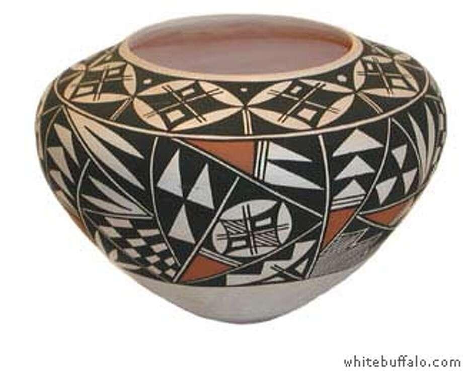 Acoma pottery bowl at White Buffalo in Truckee Photo: Whitebuffalo.com