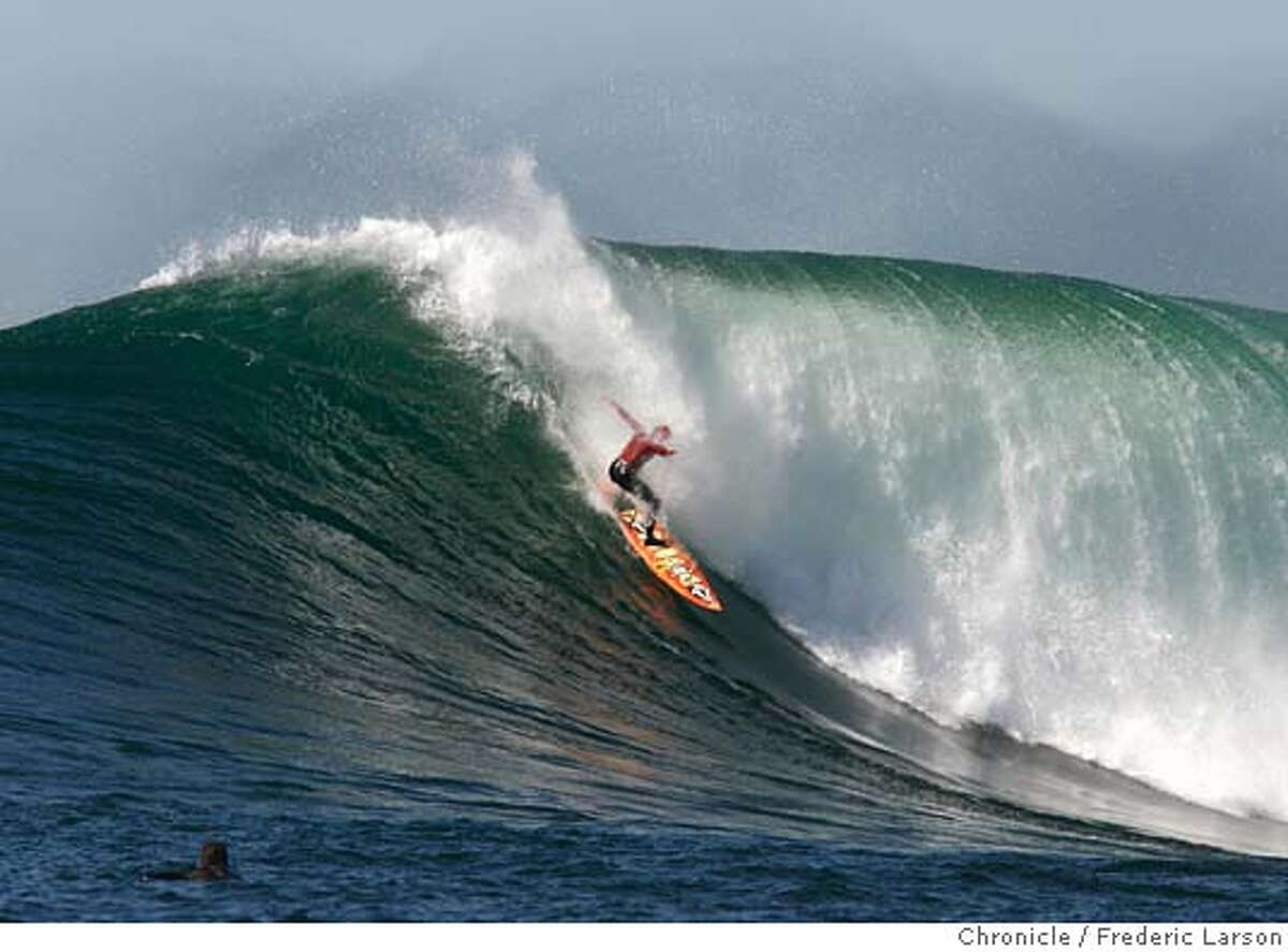 Tyler Smith during the Mavericks competition in Half Moon Bay.