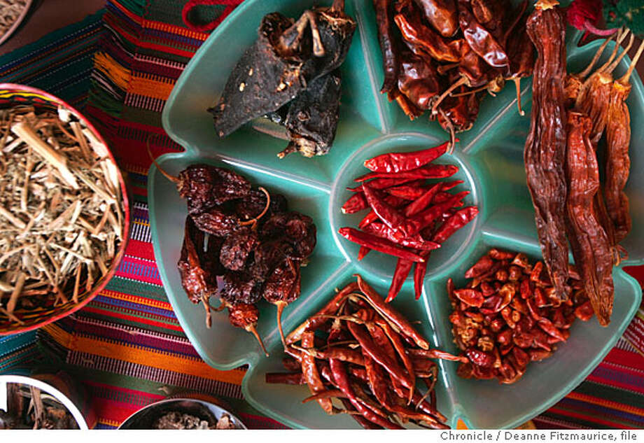 Chili peppers are featured in the south American part of the exhibit. An exhibition about Nature's Pharmacy featuring medicinal plants from around the world is opening at the Conservatory of flowers in Golden Gate Park.  Deanne Fitzmaurice / The Chronicle Photo: Deanne Fitzmaurice
