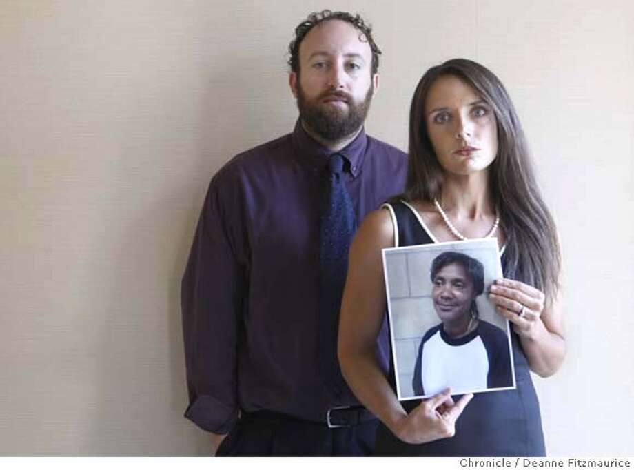 peagler_052_df.jpg  Walnut Creek attorneys Joshua Safran and Nadia Costa have been working pro bono for five years to free Debby Peagler (shown in photo Nadia is holding) from prison. Debby has been incarcerated for 24 years for the domestic violence slaying of her common law husband. Photographed in Walnut Creek on 8/30/07. Deanne Fitzmaurice / The Chronicle Mandatory credit for photographer and San Francisco Chronicle. No Sales/Magazines out. Photo: Deanne Fitzmaurice