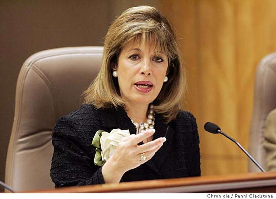 UCPAY_SENATE09 Senator Jackie Speier speaking  UC President Robert Dynes will be on the hotseat Wednesday when he testifies before a state Senate Education Committee hearing on UC's pay practices. State Capitol Photo by Penni Gladstone/The San Francisco Chronicle  Photo taken on 2/8/06, in Sacramento, CA. Photo: Penni Gladstone