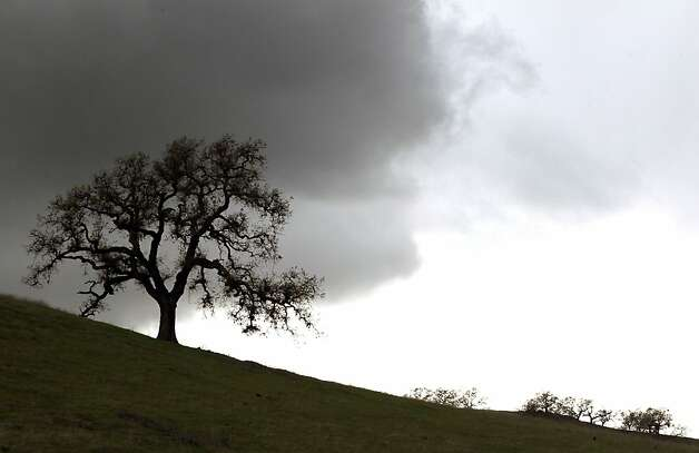 Storm clouds pass over Mt Diablo State Park Saturday, March 17, 2012, in Walnut Creek, Calif. Photo: Lance Iversen, The Chronicle