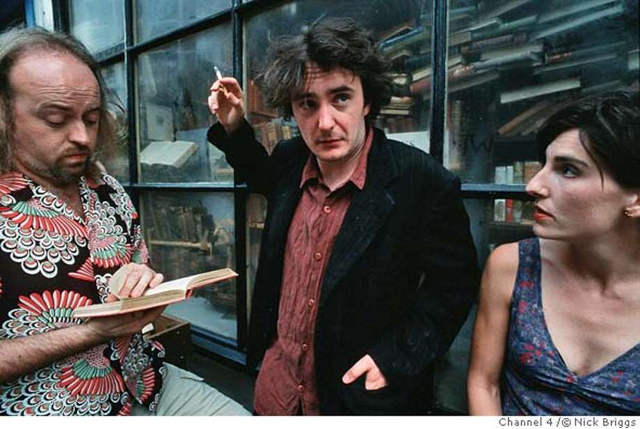 Black Books (series2): Bill Bailey, Dylan Moran & Tamsin Greig. � Nick Briggs/Channel 4  This picture may be used solely for Channel 4 programme publicity purposes in connection with the current broadcast of the programme(s) featured in the national and local press and listings.  Not to be reproduced or redistributed for any use or in any medium not set out above (including the internet or other electronic form) without the prior written consent of Channel 4 Picture Publicity 020 7306 8685 Photo: Nick Briggs