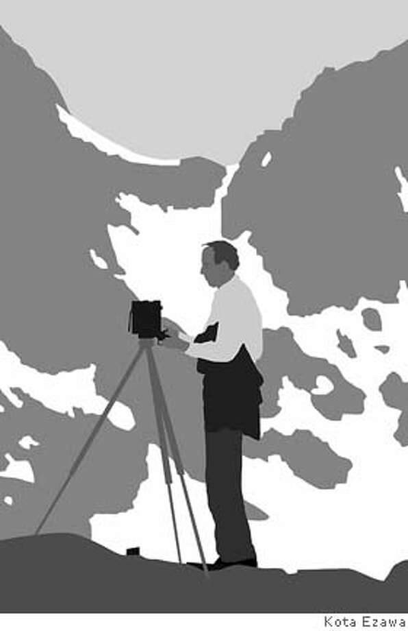 Kota Ezawa  Ansel Adams from The History of Photography Remix, 2005  Duratrans transparency & lightbox  lightbox: 32 x 22 x 2 inches/image: 30 x 20 inches Photo: -