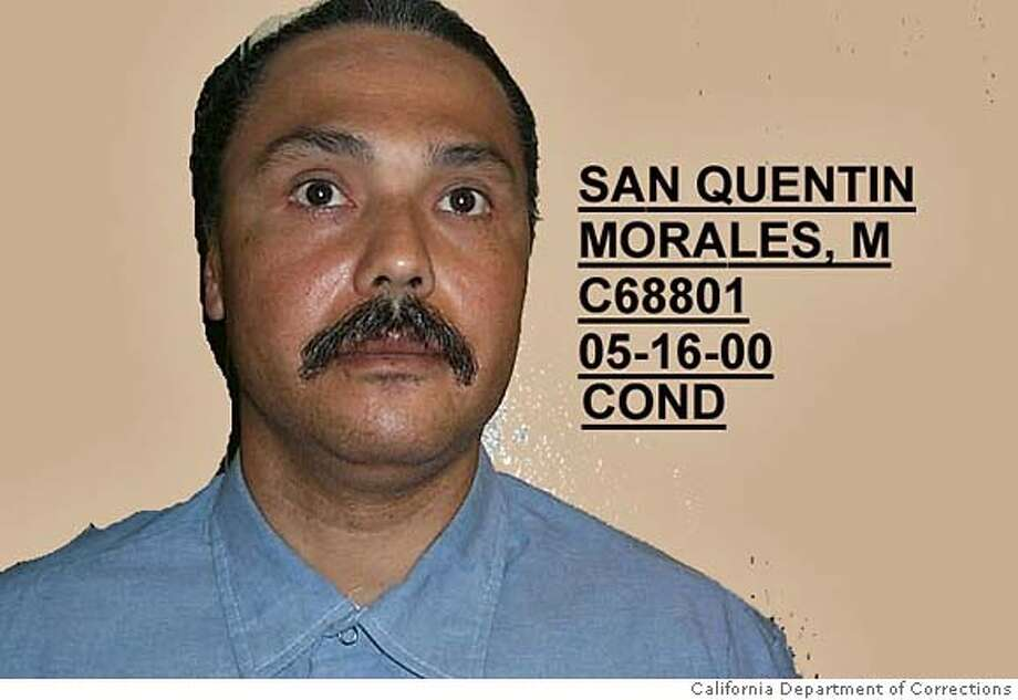 ** FILE ** This is an undated photo of Michael Morales provided by the California Department of Corrections. Morales, 46, was condemned to death for the 1981 rape and murder of 17-year-old Terri Lynn Winchell in Lodi, Calif., and is expected to die in February 2006. A federal judge will hear claims from a Morales that the U.S. Constitution's prohibition against cruel and unusual punishment is violated by California's lethal injection procedures. Former Whitewater independent counsel Ken Starr will file a clemency petition on behalf of Morales. (AP Photo/California Department of Corrections) Ran on: 01-28-2006  Michael Morales is scheduled to be executed Feb. 21 for the rape-murder of a Lodi girl, 17, in 1981. IMAGE DIGITALLY ALTERED BY SOURCE PHOTO PROVIDED BY CALIFORNIA DEPARTMENT OF CORRECTIONS Photo: AP