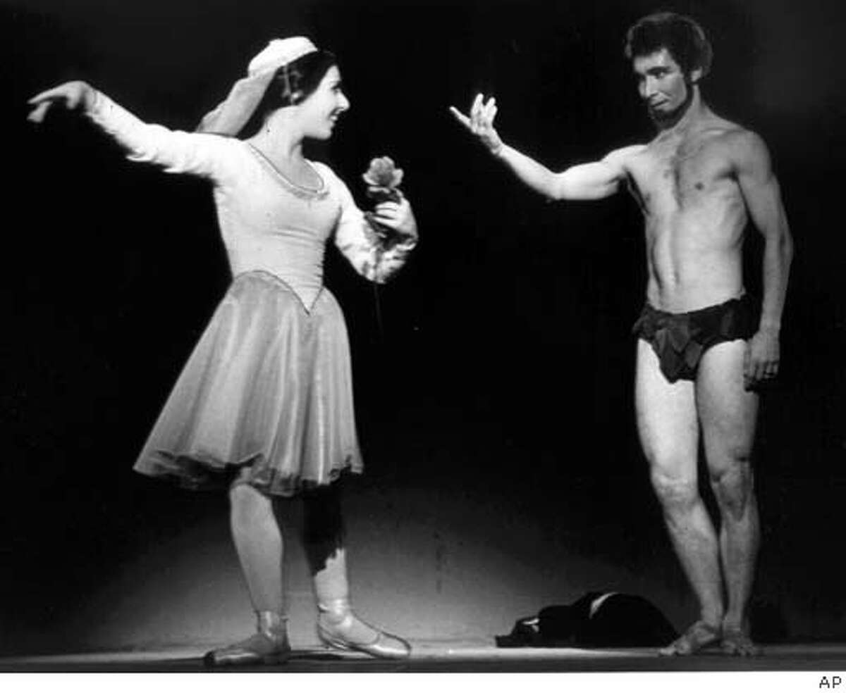 """Genene Rosand and Oakland Ballet founder Ronn Guidi bow after bringing down the house with """"Carmina Burana."""" in Oakland, Calif., in this 1969 photo. The Oakland Ballet said Tuesday, Jan. 31, 2006, that it is closing after four decades because of an ongoing ticket slump and the loss of its venue. (AP Photo/The Oakland Tribune) **LOCALS PLEASE CREDIT, MAGS OUT, ONLINE OUT** STAND ALONE NEWS, LOCALS PLEASE CREDIT, MAGS OUT"""